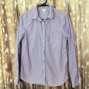 J.Crew Button Down Long Sleeve Top. Small